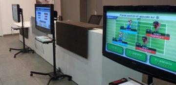Jeux vidéo sur stand
